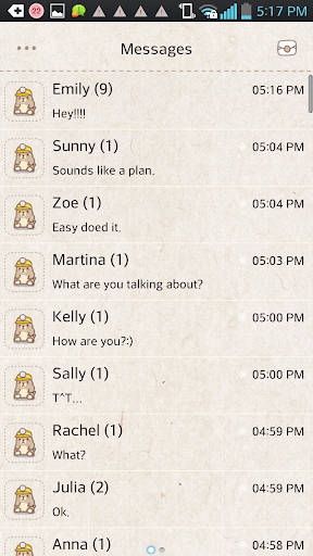 Mole game go sms theme