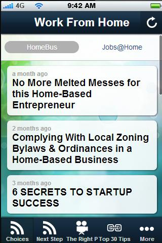 Work at Home Tips.