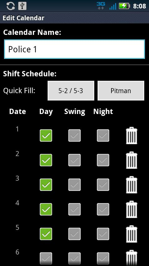 Police Scheduler - screenshot
