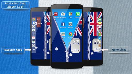 オーストラリアの旗ジッパーロックがスマートフォン