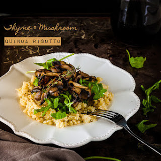 Thyme and Mushroom Quinoa Risotto {gluten free and vegan}.