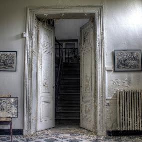 hallway by Greg Warnitz  - Buildings & Architecture Decaying & Abandoned ( urban, mansion, paintings, abandoned, decay )
