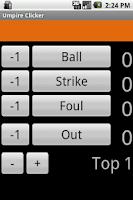 Screenshot of Umpire Clicker