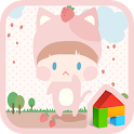strawberry cat dodol theme icon