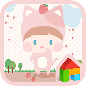 strawberry cat dodol theme