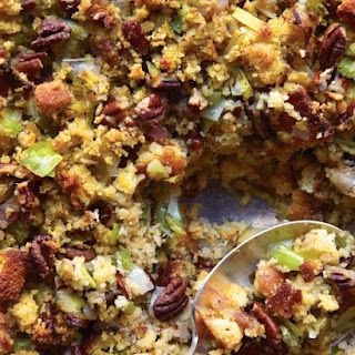 Cornbread, Bacon, Leek, and Pecan Stuffing.