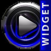 Poweramp skin widget Blue Glow