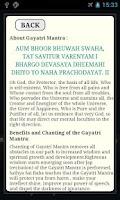 Screenshot of Gayatri Mantra