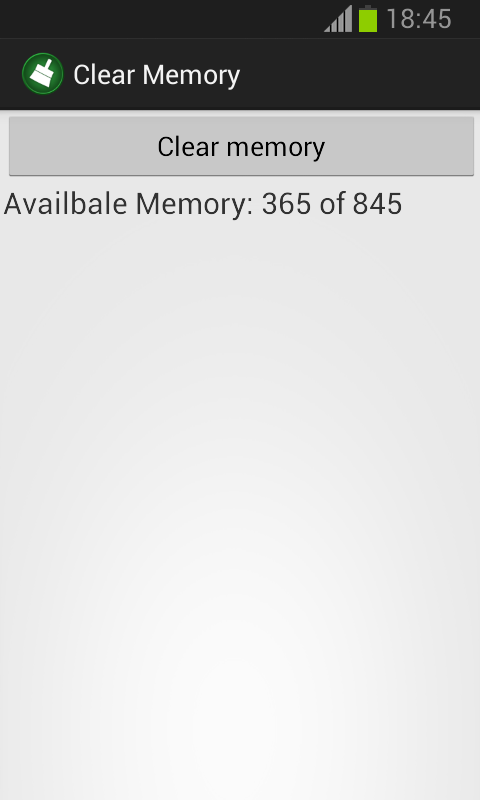 how to clear system memory on android