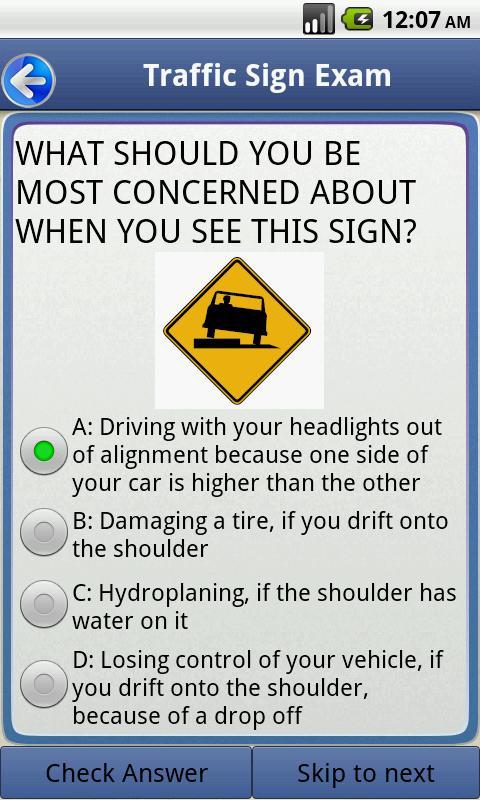 Texas Drivers Handbook Practice Test