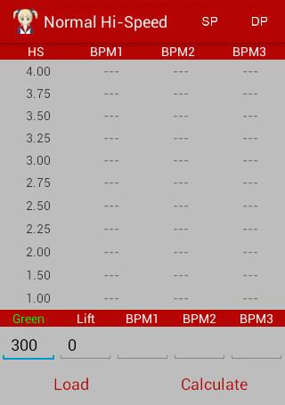 IIDX Speed Calculator