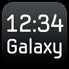 Galaxy Clock Widget icon