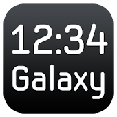 Galaxy Clock Widget