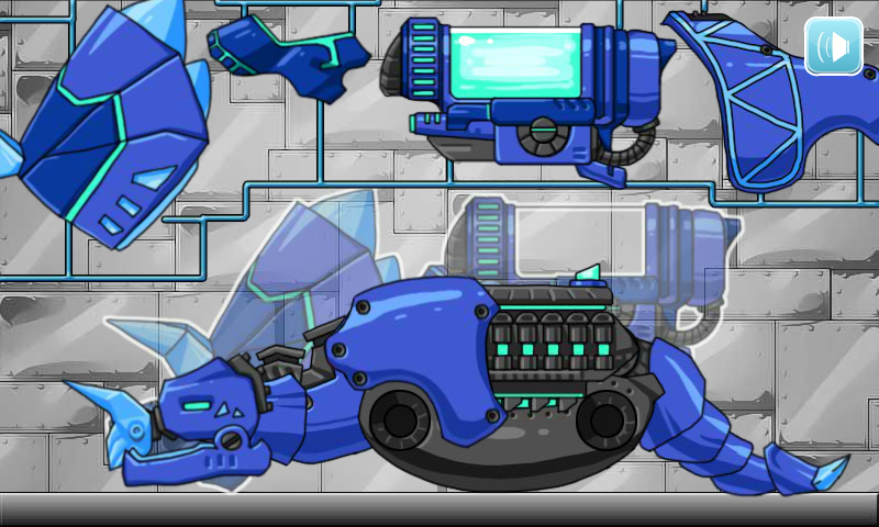 Dino Robot Triceratops Blue Android Apps On Google Play