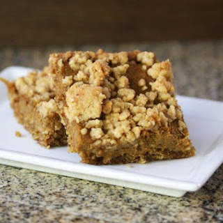 Pumpkin Squares with Oat Crust and Crumb Topping