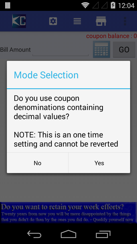 Coupon Calculator- screenshot