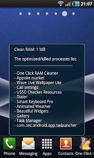 One Click RAM Cleaner - screenshot thumbnail