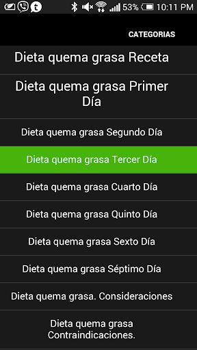 Dieta Quema Grasa