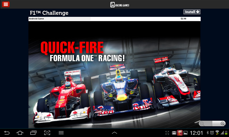 Racing Games For Tablets - screenshot