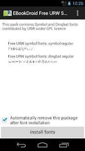 EBookDroid URW Symbol FontPack - screenshot thumbnail