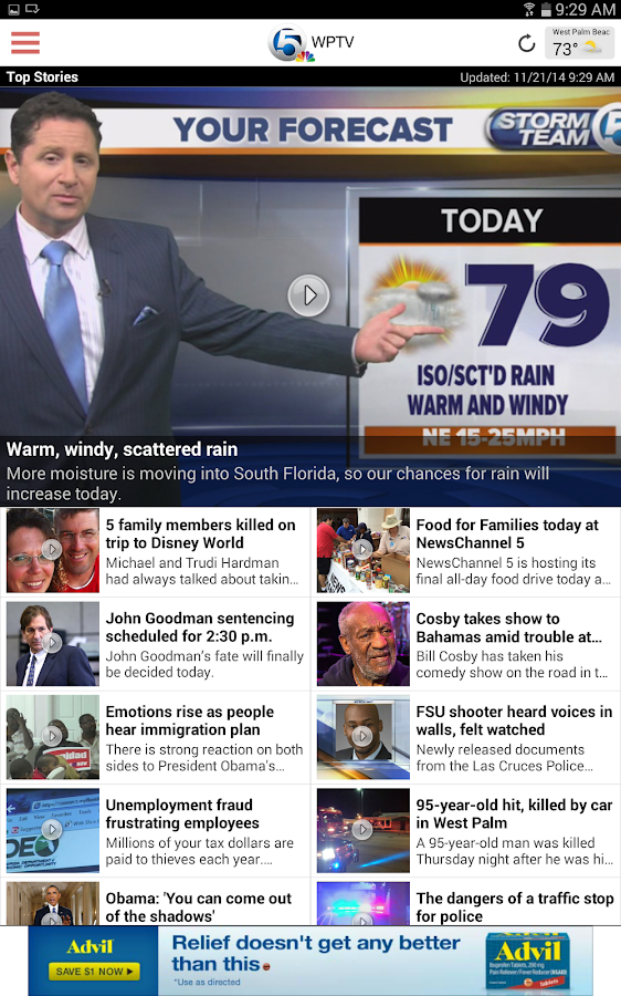 WPTV 5 West Palm Beach - screenshot