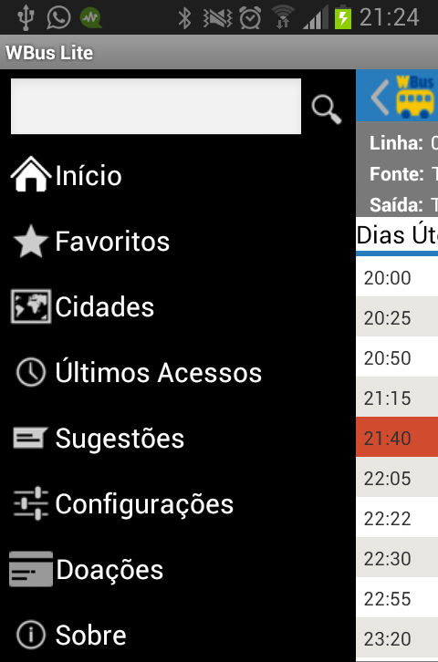 WBus Joinville Lite - screenshot