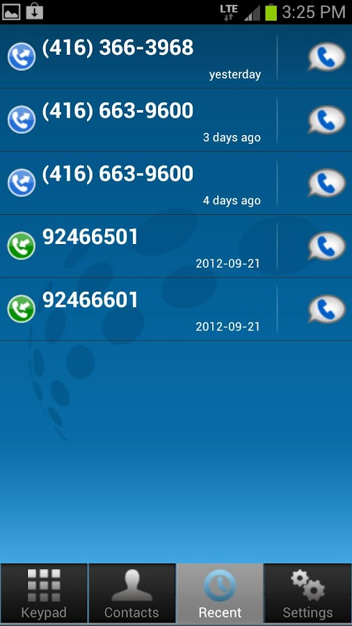 Comwave Mobile- screenshot
