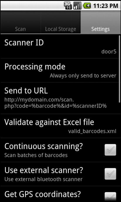 Barcode Scanner Terminal - screenshot