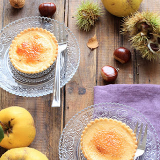 Autumn Tarts with Caramelized Quince Curd.