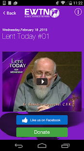 EWTN:  Lenten Reflections 2015- screenshot thumbnail