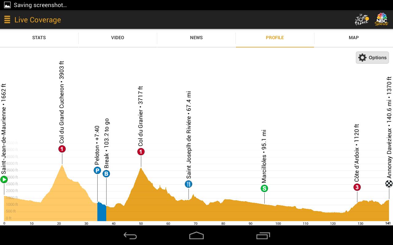 NBC Sports Tour de France Live - screenshot