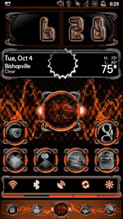 Bionic Launcher Theme Orange - screenshot thumbnail