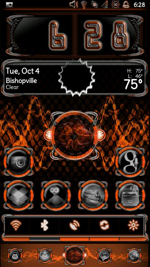 Bionic Launcher Theme Orange- screenshot