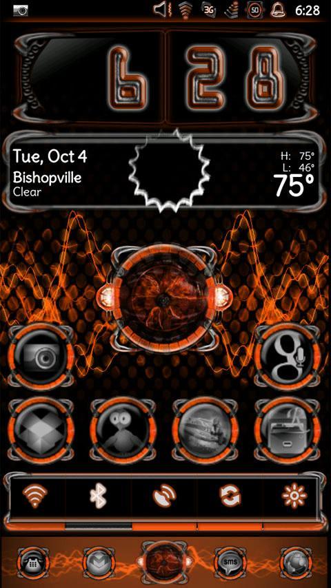 Bionic Launcher Theme Orange - screenshot