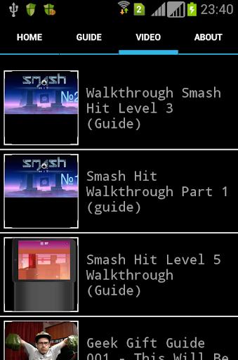 Smash Hit Video Tips