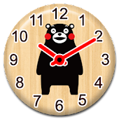 WOODEN CLOCKS WIDGET KUMAMON