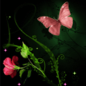 Pink Butterfly Live Wallpaper icon