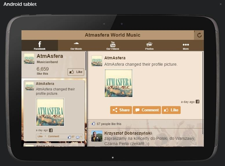 Atmasfera World Music- screenshot