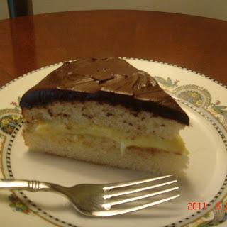 Boston Cream Pie with Kahlua ganache.