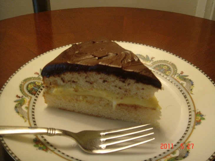 Boston Cream Pie with Kahlua Ganache Recipe