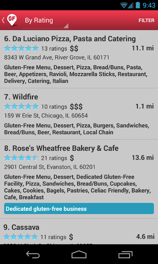 Find Me Gluten Free- screenshot
