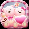 Pink Bear Heart Cute Theme icon