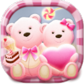 Pink Bear Heart Cute Theme