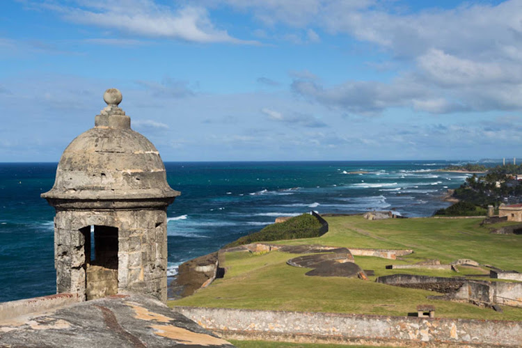 The Garita, or sentry lookout at Castillo de San Cristobal in Old San Juan, Puerto Rico.