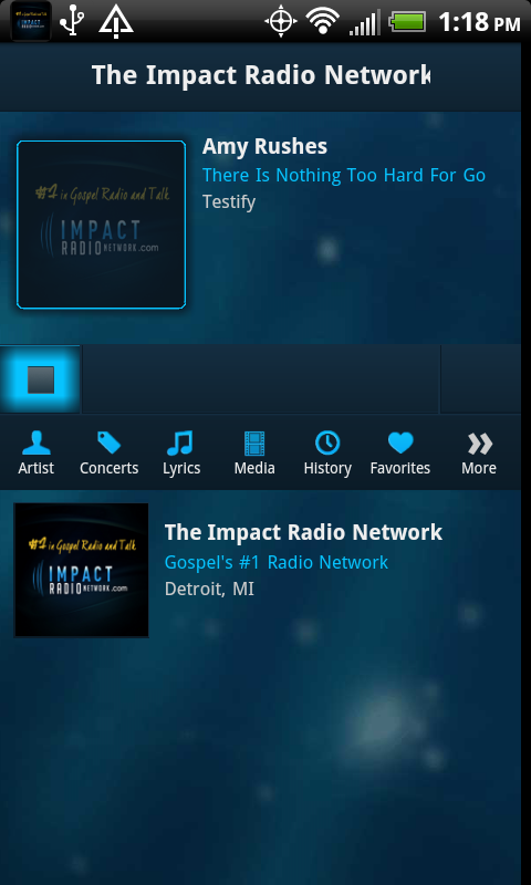 The Impact Radio Network - screenshot