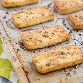 Baked Italian Herb Tofu.