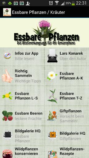 essbare Pflanzen Kräuter APP