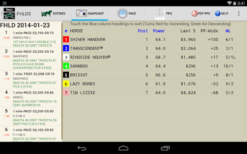 TrackMaster Tablet Handicapper - screenshot thumbnail