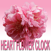 Heart Flower Clock Widget
