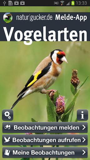 Vogelarten Melde-App